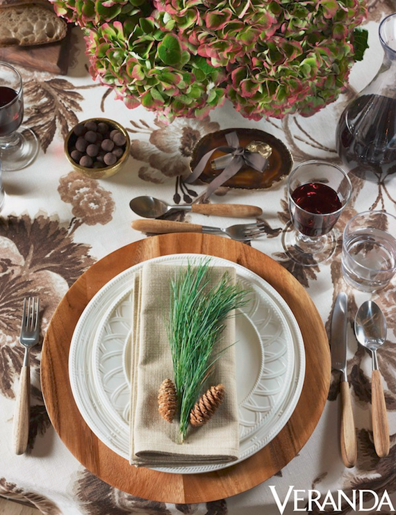 woodland chic tabletop by aerin