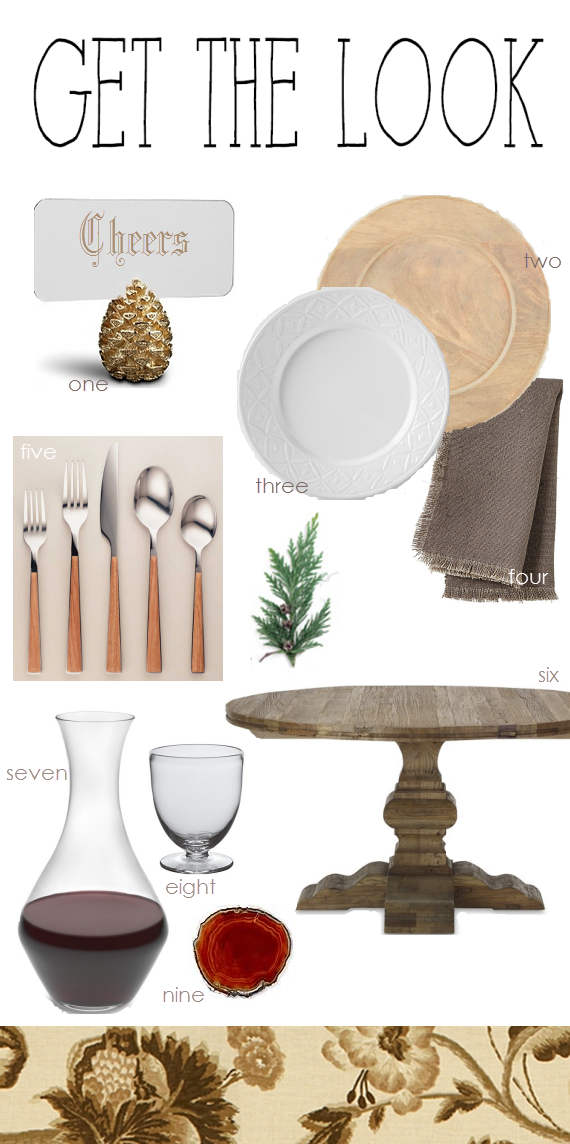 woodland chic tabletop