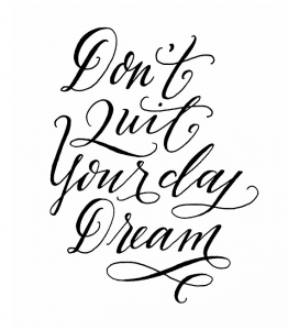 don't quit your day dream. #dream