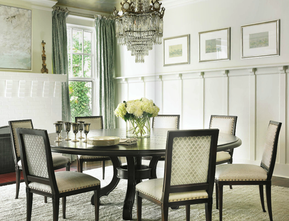 formal dining room with round table - Courtney Giles