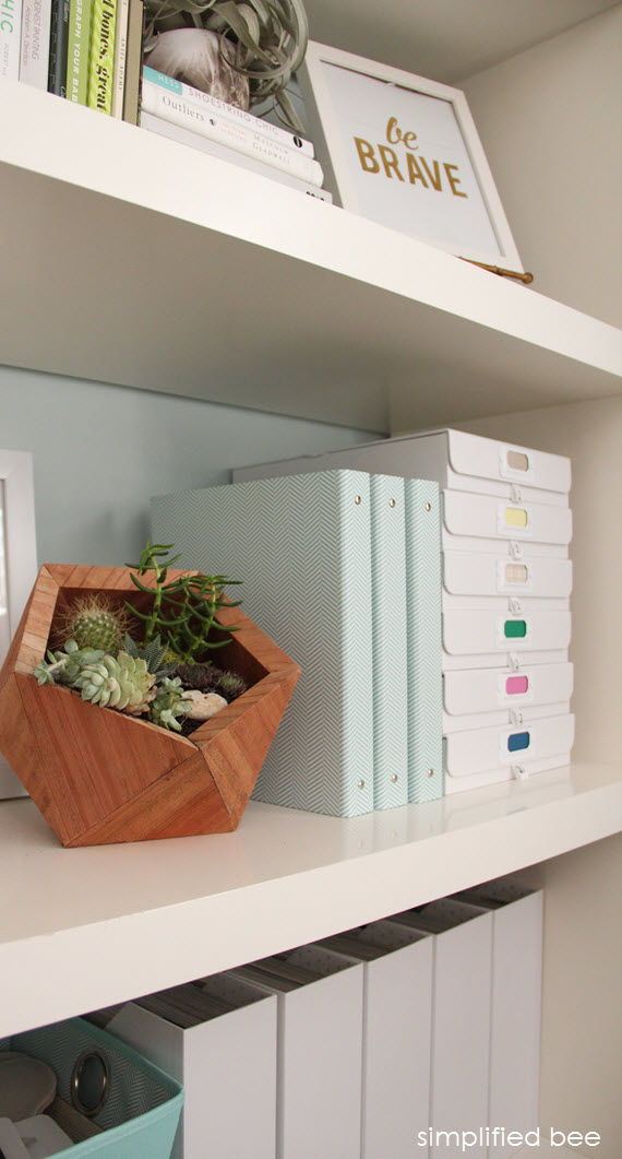 home office storage ideas // www.simplifiedbee.com