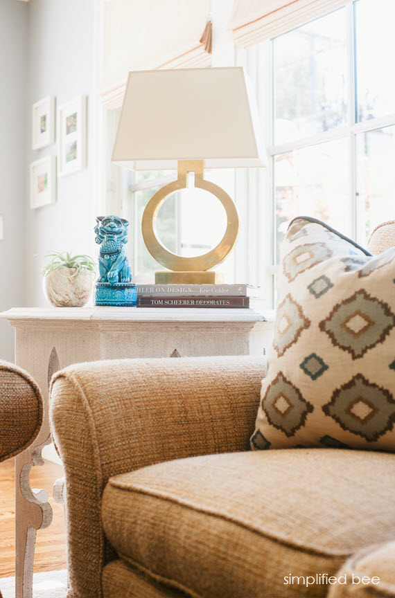 california chic living room // cristin priest of simplified bee