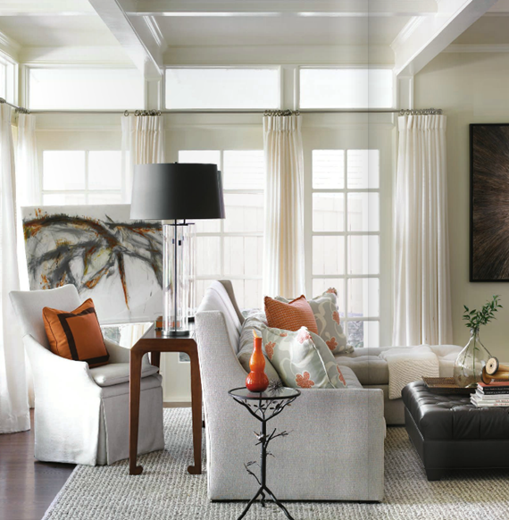 new traditional family room by Courtney Giles