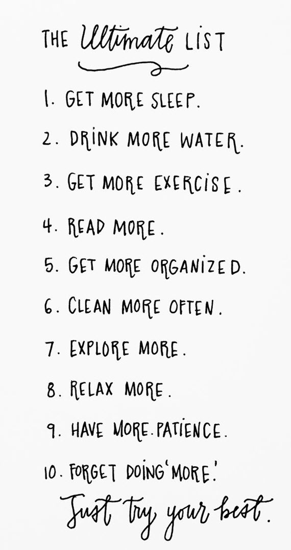 new year's resolutions - the ultimate list
