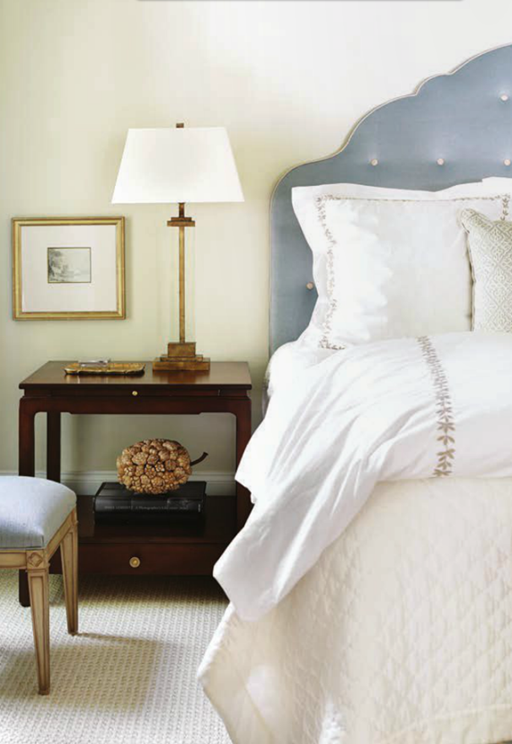 serene bedroom design by Courtney Giles
