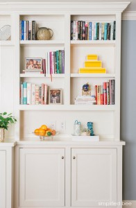 stylish bookshelves // cristin priest of simplified bee
