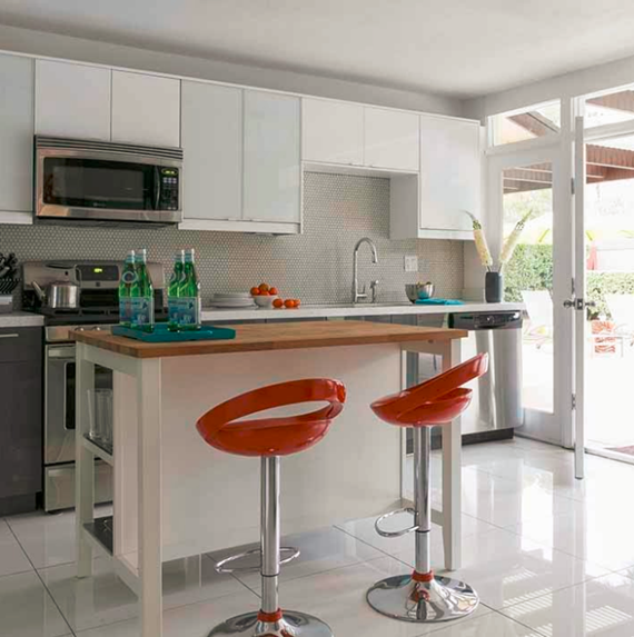palm springs mid-century modern kitchen