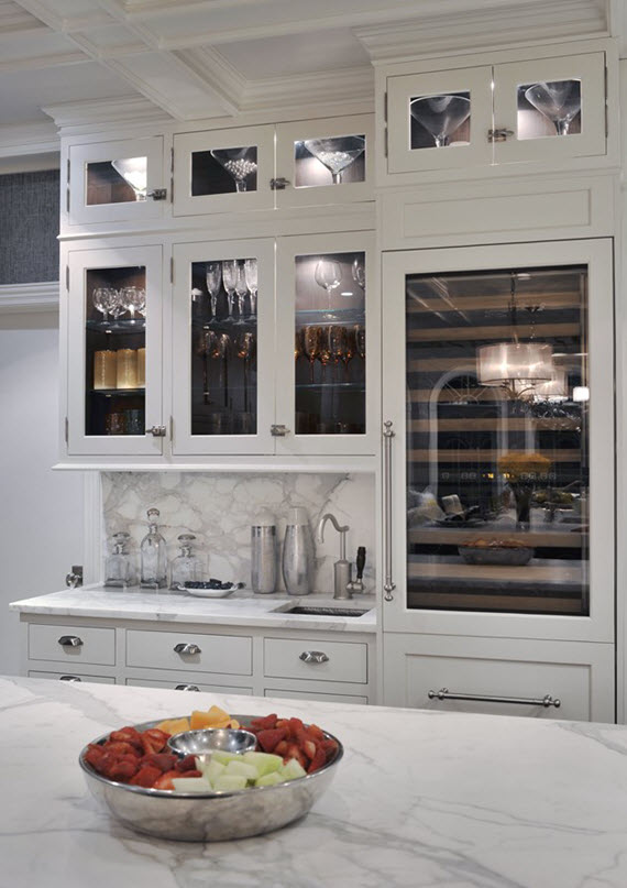 Sub zero wolf kitchen with wine refrigerator simplified bee for Built in wine bar ideas