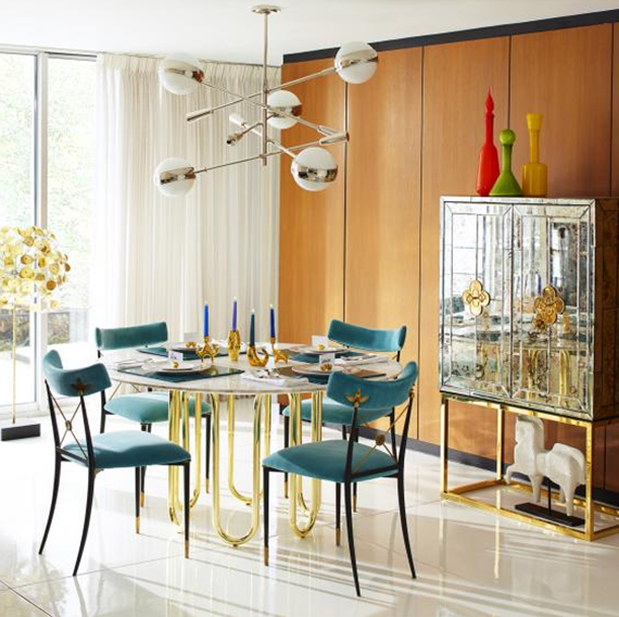 Jonathan Adler mid-century inspired dining room