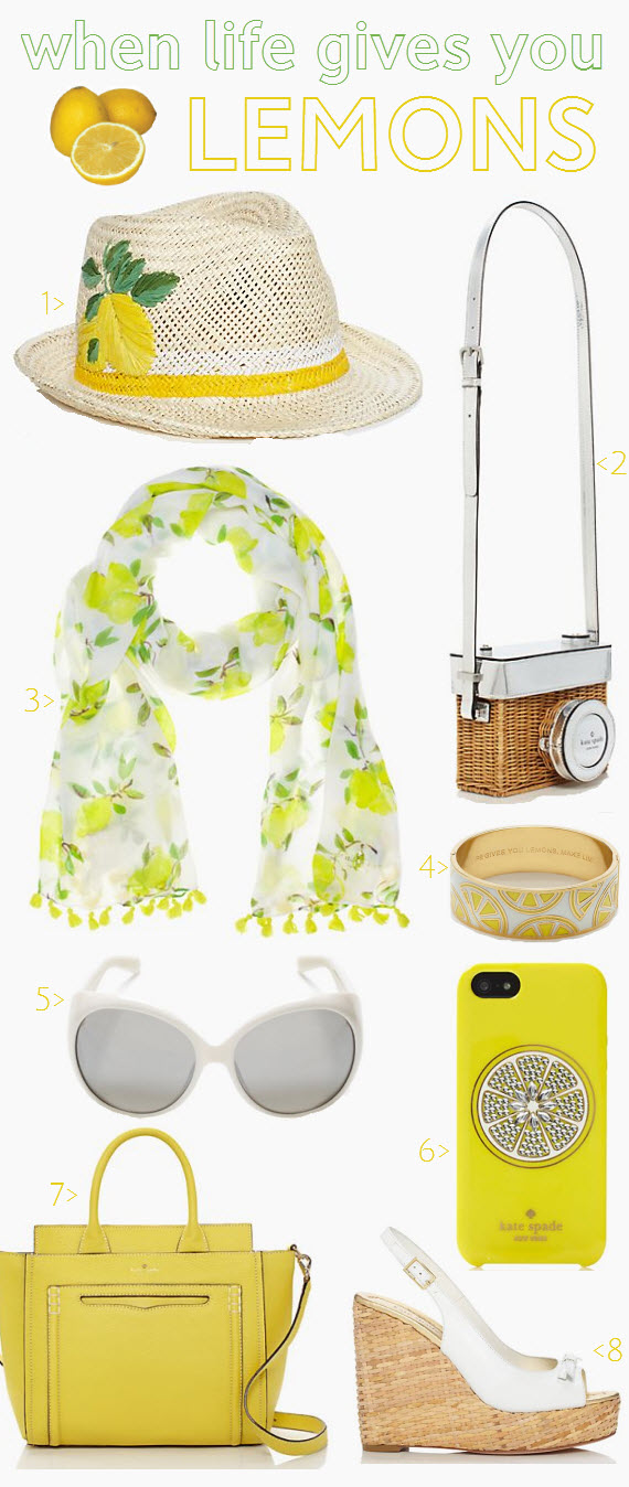 Kate Spade Lemon Collection Spring 2014 #lemons