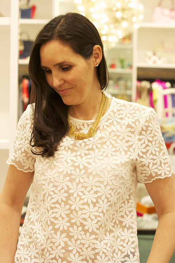 Kate Spade floral lace tee #lace #floral