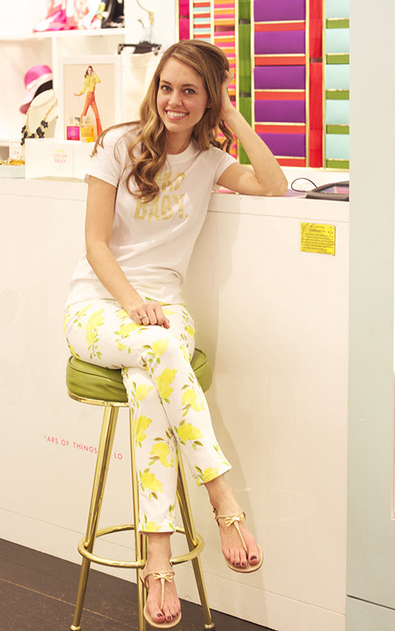 Michaela Noelle in Kate Spade Spring #lemons