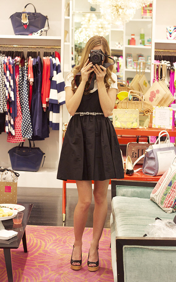 Michaela Noelle in Kate Spade black dress #lbd #dress #katespade