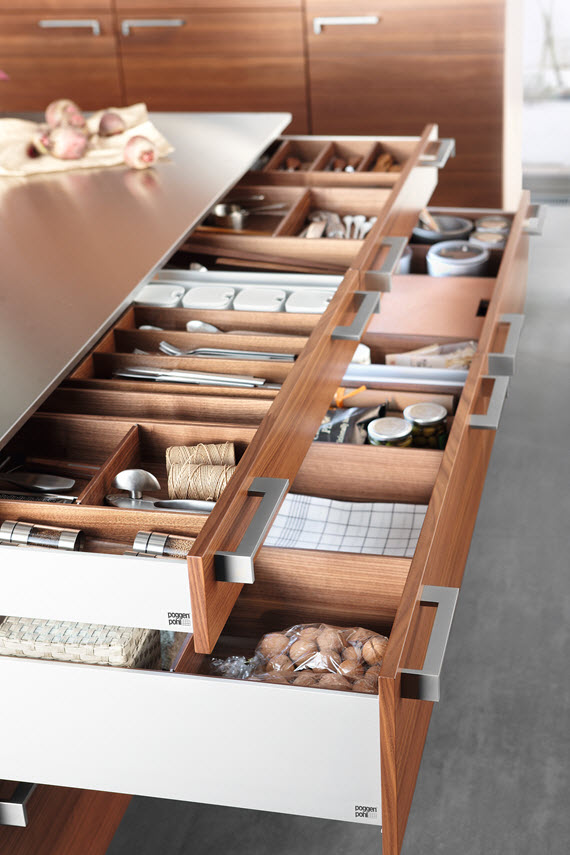 Poggenpohl Accessories - Drawers and Pull-outs with accessory elements