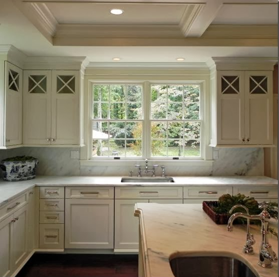 designer kitchen with Wood-Mode cabinetry