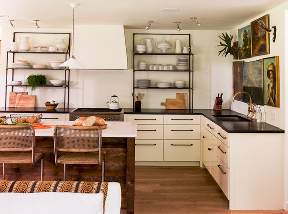 open kitchen shelving  - Lauren Liess Design