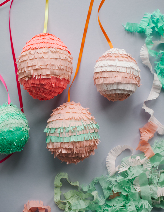 Easter egg pinatas craft - DIY #Easter Ideas