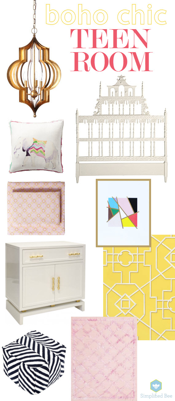 boho-teen bedroom for girls - simplified bee