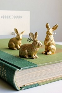 easter bunny placecard holders - diy #easter ideas