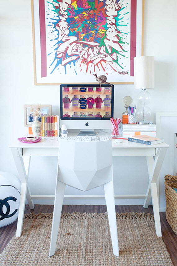 Chic work spaces - Amazing teenage girl desks ...