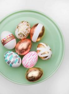 gilded Easter eggs - diy Easter ideas