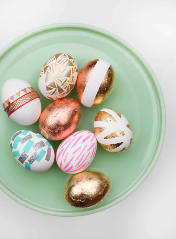 gilded Easter eggs - diy Easter ideas