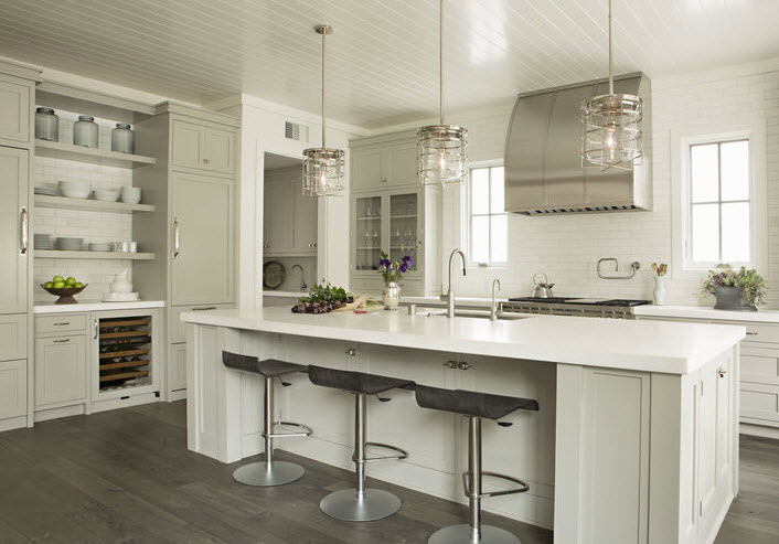 White Kitchen Island With Wine Rack