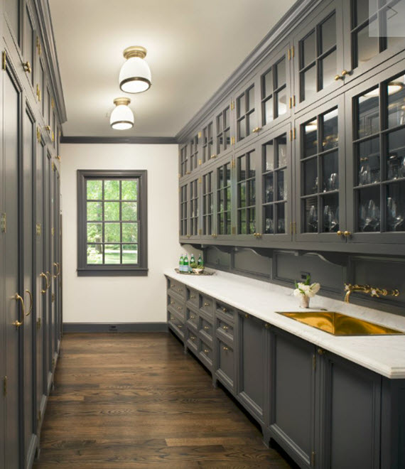 gray butler's pantry #kitchens