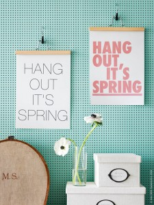 Hang Out It's Spring #art #ikea