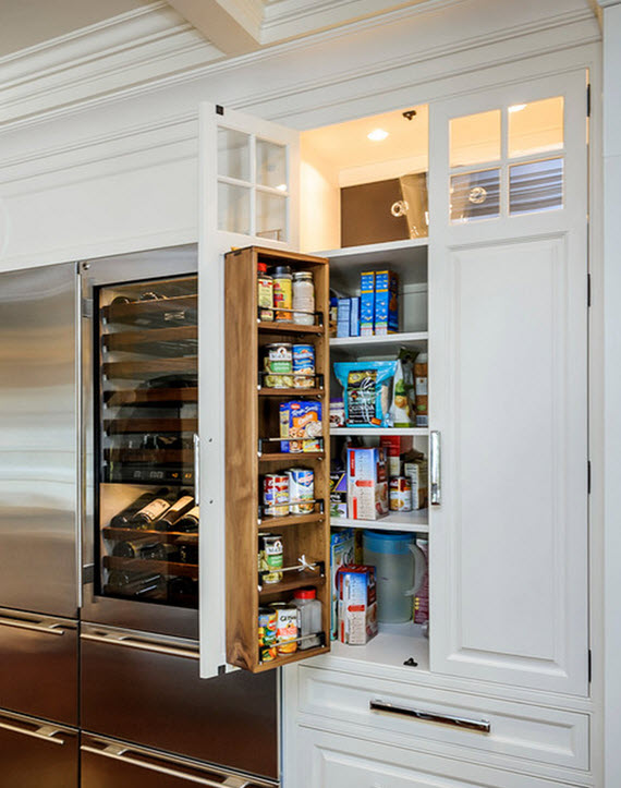 here is a similar pantry by leslie ann abbott that is flush with the
