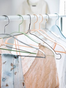 pastel clothing hangers from Ikea