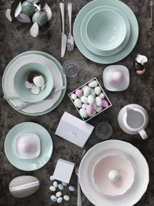 pastel Easter tablescape #Easter