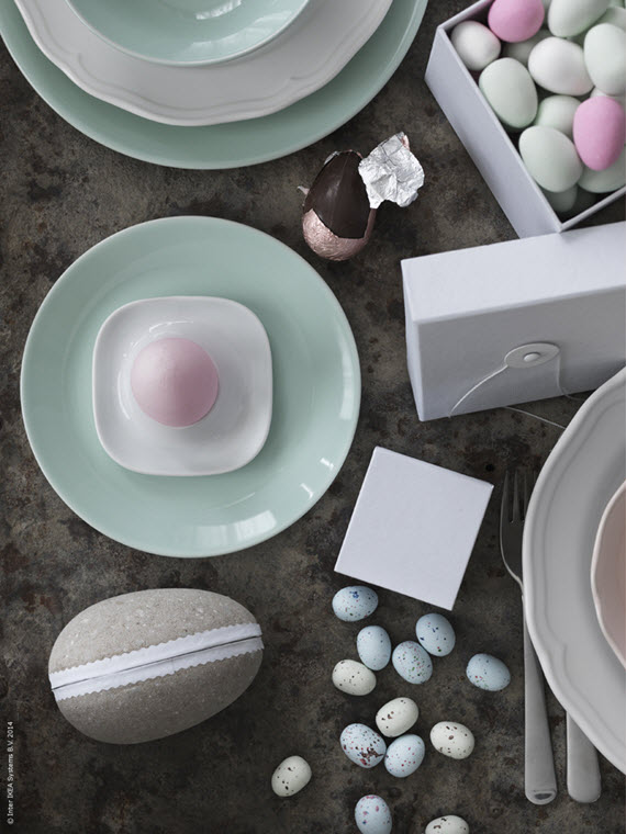 pastel Easter table setting #Easter