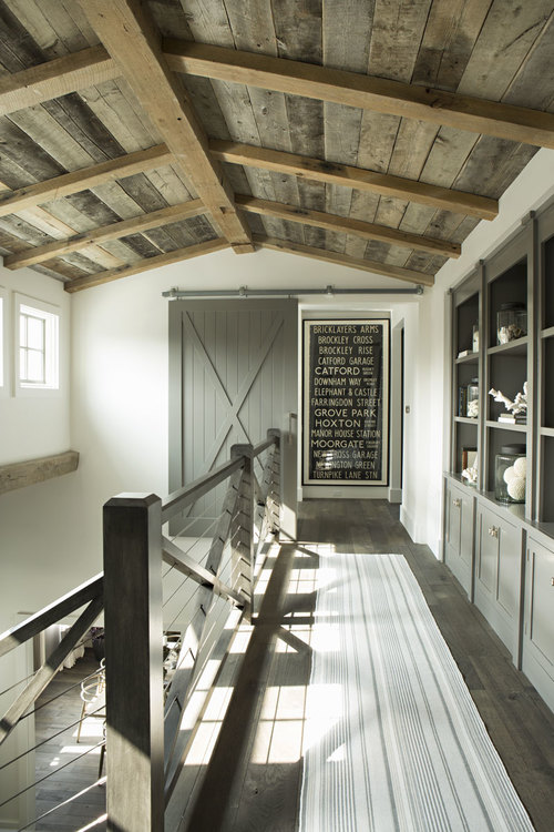 reclaimed wood ceiling and beams