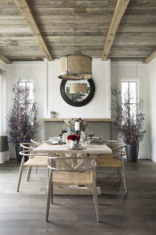 relaxed california dining room