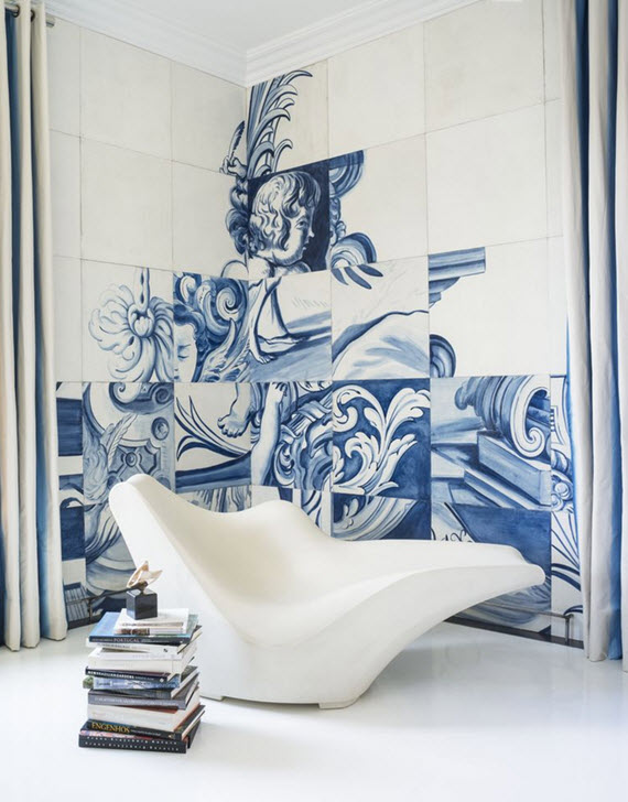blue and white tiles - Portuguese Azulejos