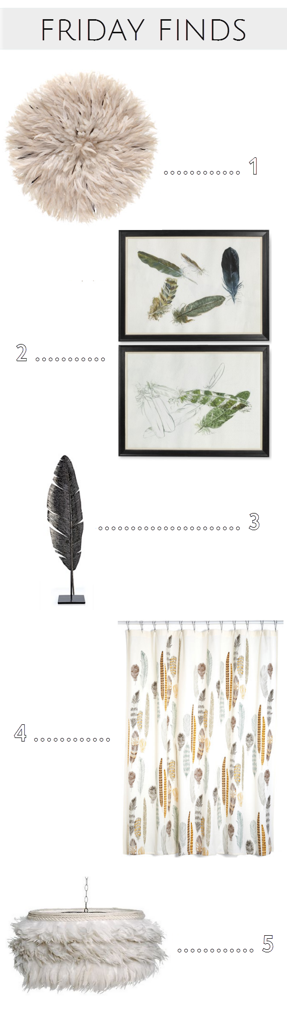 feather pattern decor finds - www.simplifiedbee.com #feathers