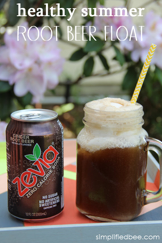 healthy root beer float - simplified bee