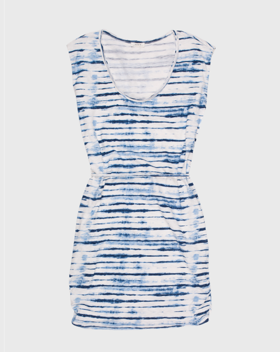 indigo tie dye dress - Joie