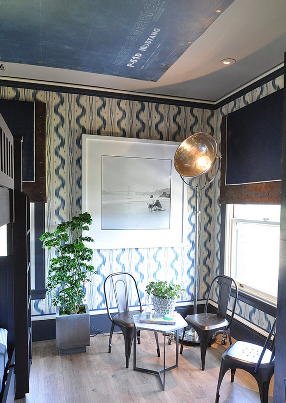 navy blue and white boys bedroom - San Francisco Showcase 2014
