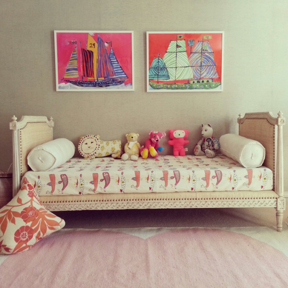 LuLu DK heart rug and artwork // girl's bedroom