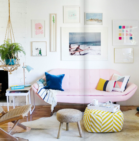beachy living room // Emily Henderson