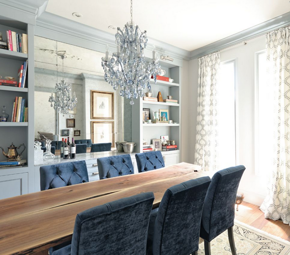 blue dining room - meredith heron design