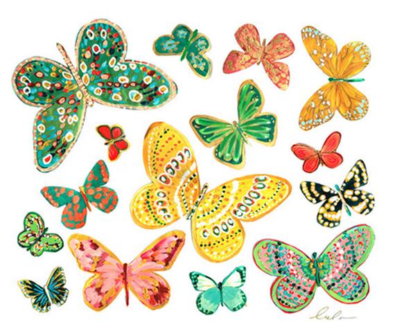 butterfly wall decals // Lulu DK #butterflies