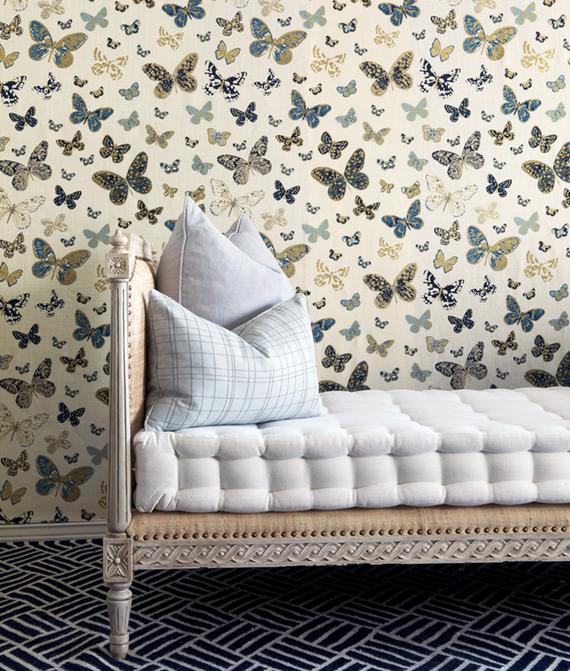 butterfly wallcovering - Lulu DK textiles #butterflies