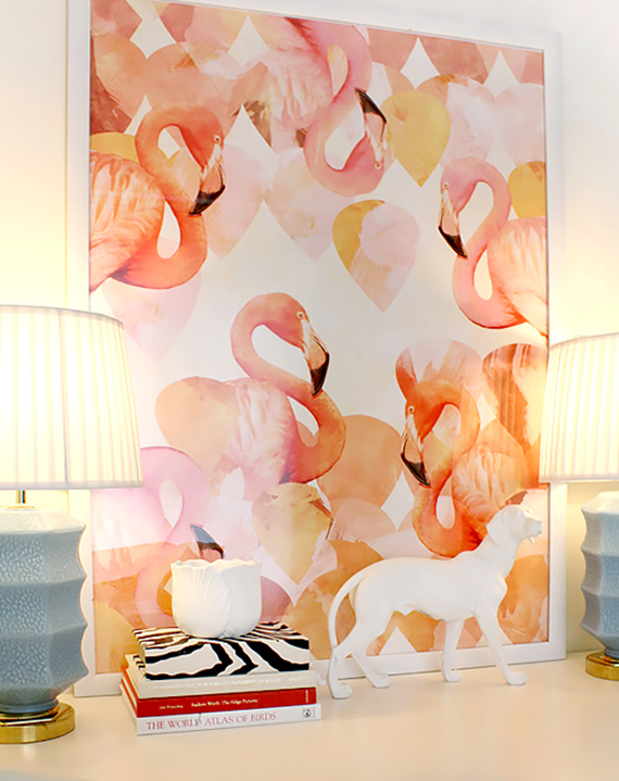 Flamingo Mingle Art - Cozamia