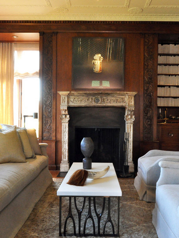library fireplace - San Francisco Decorator Showcase 2014