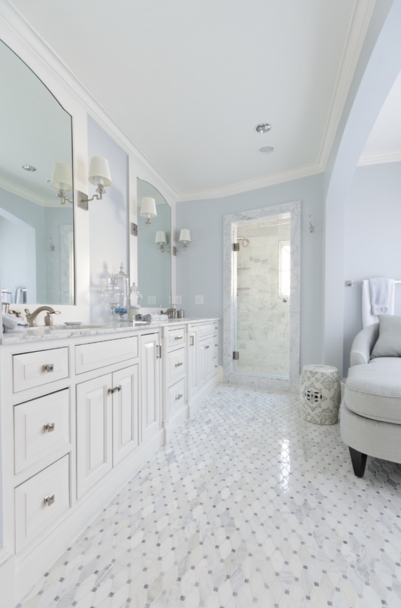 marble designer bathroom - Meredith Heron Design