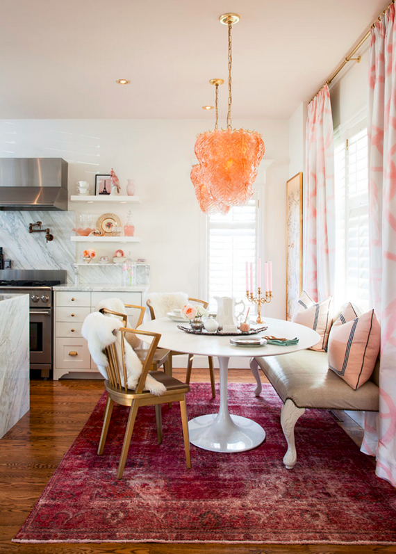 modern traditional breakfast nook - meredith heron design