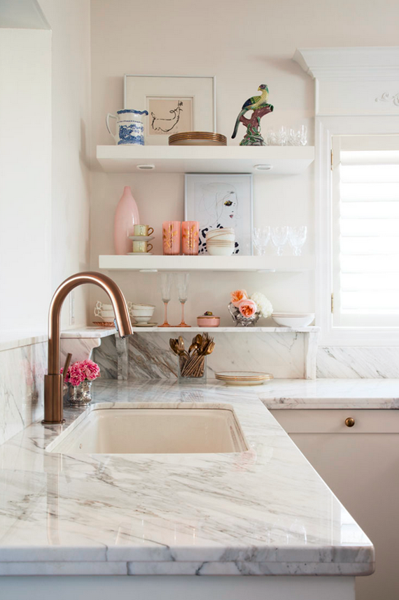 open shelves - kitchen - meredith heron design